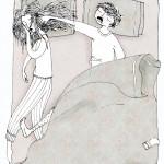 Dormir en pareja. Colaboración para Proyecto Kahlo